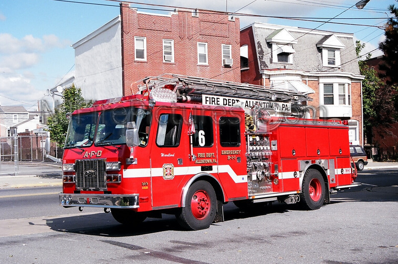 ALLENTOWN - ENGINE 6 - 1995 E-ONE 1250/500/50'