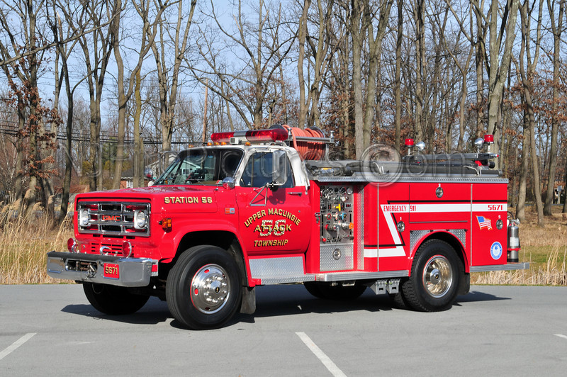 UPPER MACUNGIE, PA ATTACK 5671 - 1980 GMC 7000/EMERGENCY ONE 250PTO/500