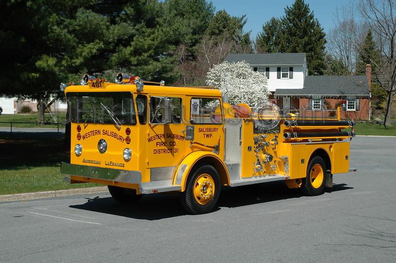 Western Salisbury - Engine 481 - 1965 American LaFrance Pioneer 750/500