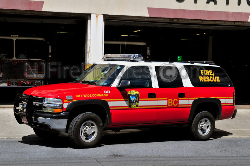ALLENTOWN, PA BATTALION CHIEF - 2003 CHEVY SUBURBAN