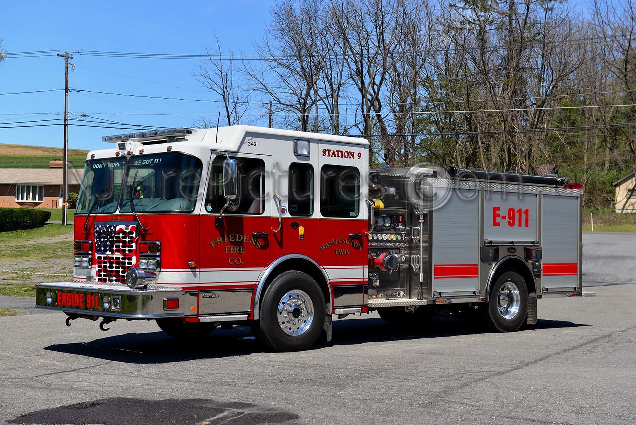 WASHINGTON TWP, PA (FRIEDENS FIRE CO.) ENGINE 911