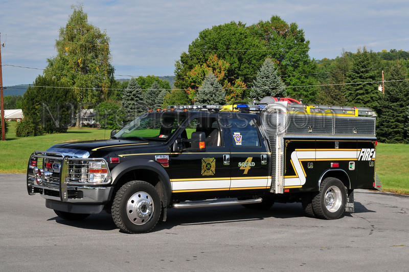 HIGHLAND PARK (DERRY TWP) SQUAD 4- 2008 FORD F550/DARLEY/READING PP/300