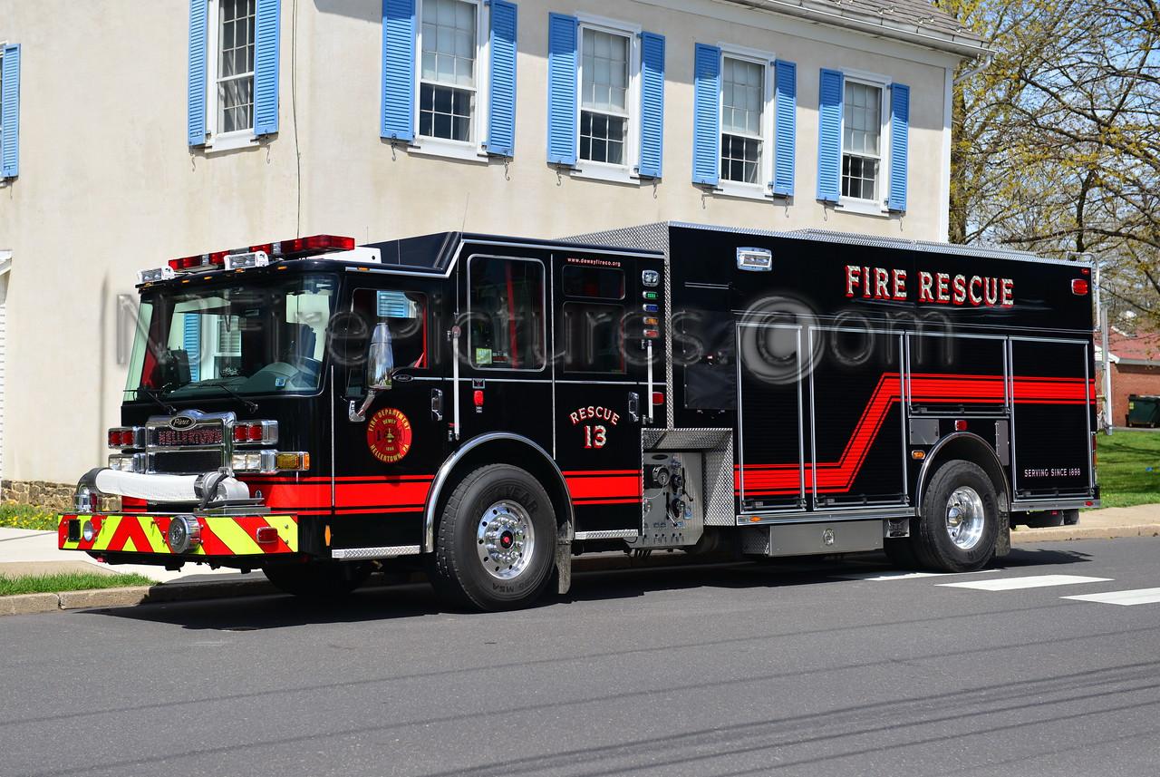 HELLERTOWN, PA RESCUE 1341 - 2013 PIERCE DASH CF PUC 1500/1000/50
