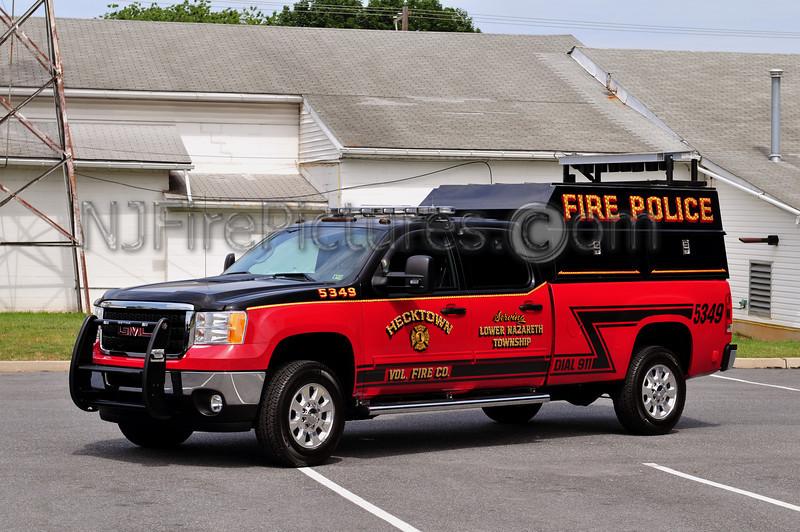 LOWER NAZARETH TWP (HECKTOWN FIRE CO.) FIRE POLICE 5349 - 2011 GMC 3500/READING CAP