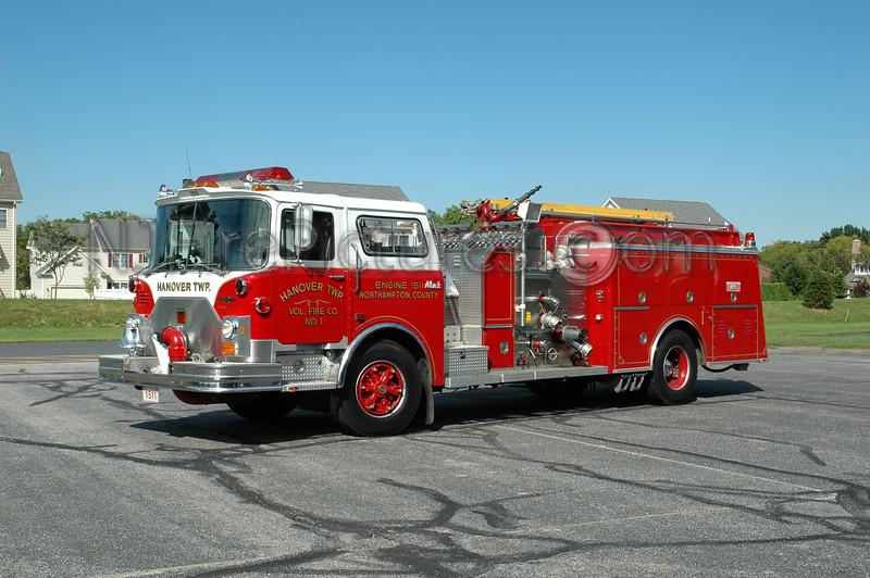 Hanover Twp - Engine 1511 - 1989 Mack CF/Ward 79 1250/750/40