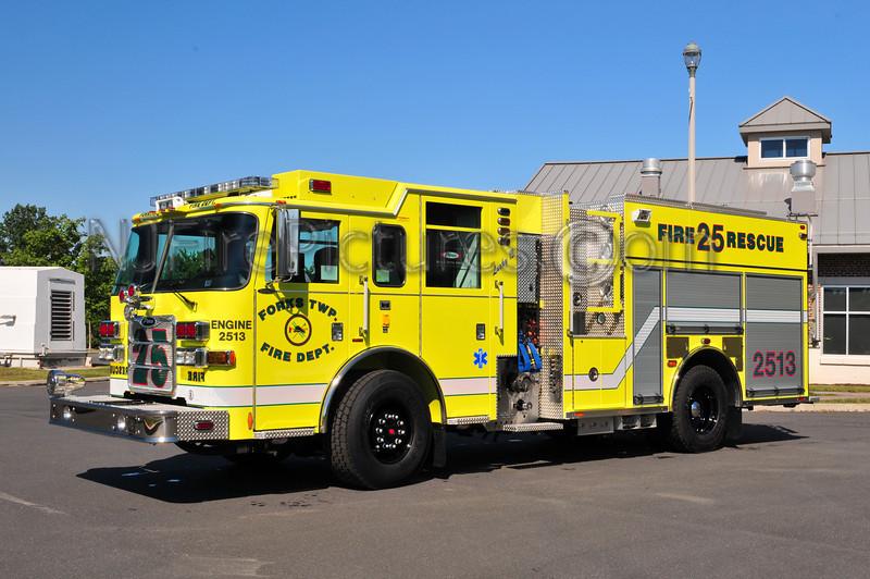 Forks Twp, PA Engine 2513 - 2010 Pierce Arrow XT PUC 1500/750/50 CAFS