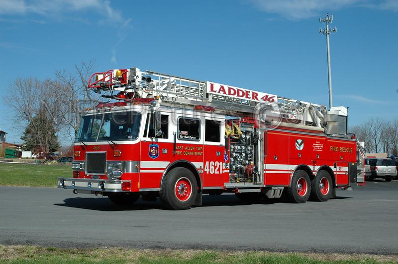 East Allen Twp - Ladder 4621 - 1993 Pierce Arrow 1750/600/75'