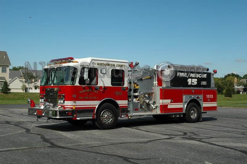 Hanover Twp - Engine 1513 - 2001 Spartan/Marion 1200/1400