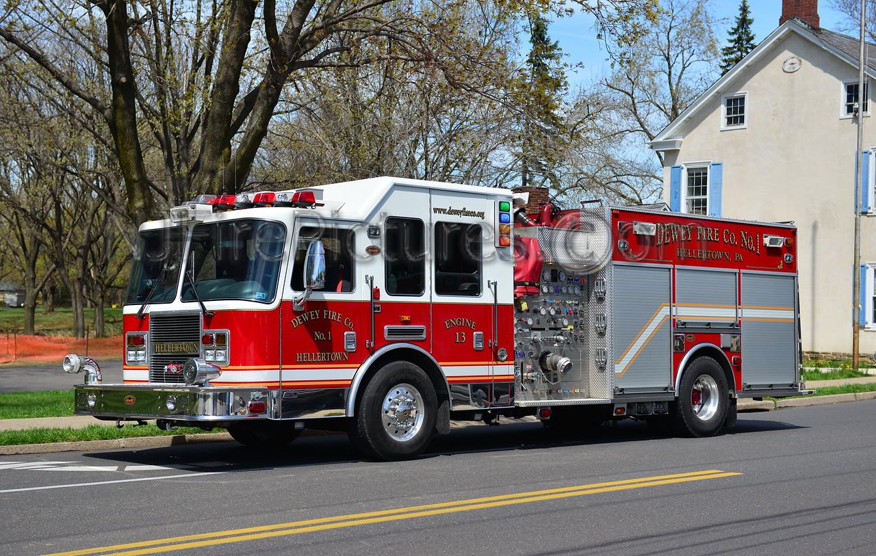 HELLERTOWN, PA DEWEY FIRE CO. ENGINE 1313 - 2005 KME 1500/750/50