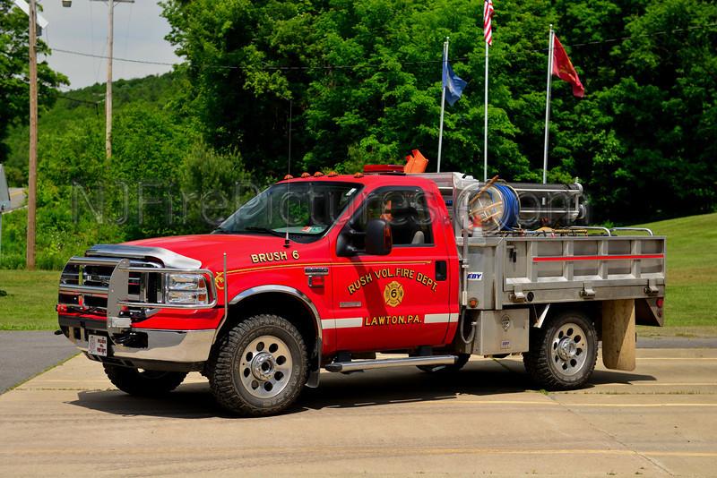 LAWTON, PA RUSH FIRE CO. BRUSH 6