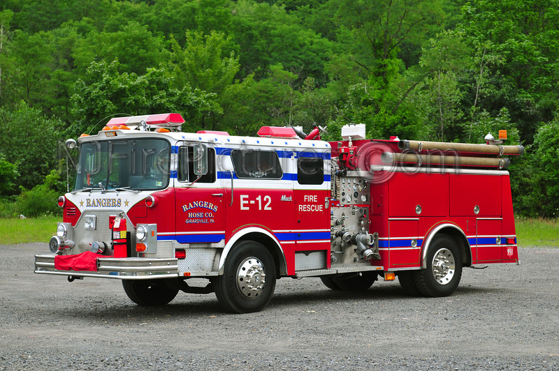 GIRARDVILLE, PA (RANGERS FIRE CO.) ENGINE 45-12 - 1979 MACK CF 1000/750 EX-FDNY ENGINE 275/RESERVE 511, EX-MILL CREEK, PA.