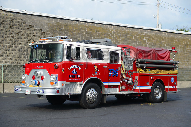 SCHUYLKILL HAVEN WAGON 736 - 1980 MACK CF/09 SWAB REHAB 1000/500 EX-FDNY ENGINE 50
