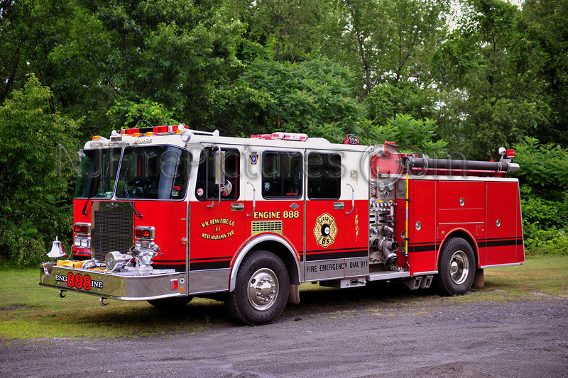 WEST MAHANOY TWP (WM PENN FIRE CO.) ENGINE 888 - 1989 SPARTAN/WARD 79 1500/500 EX-OSSINING, NY