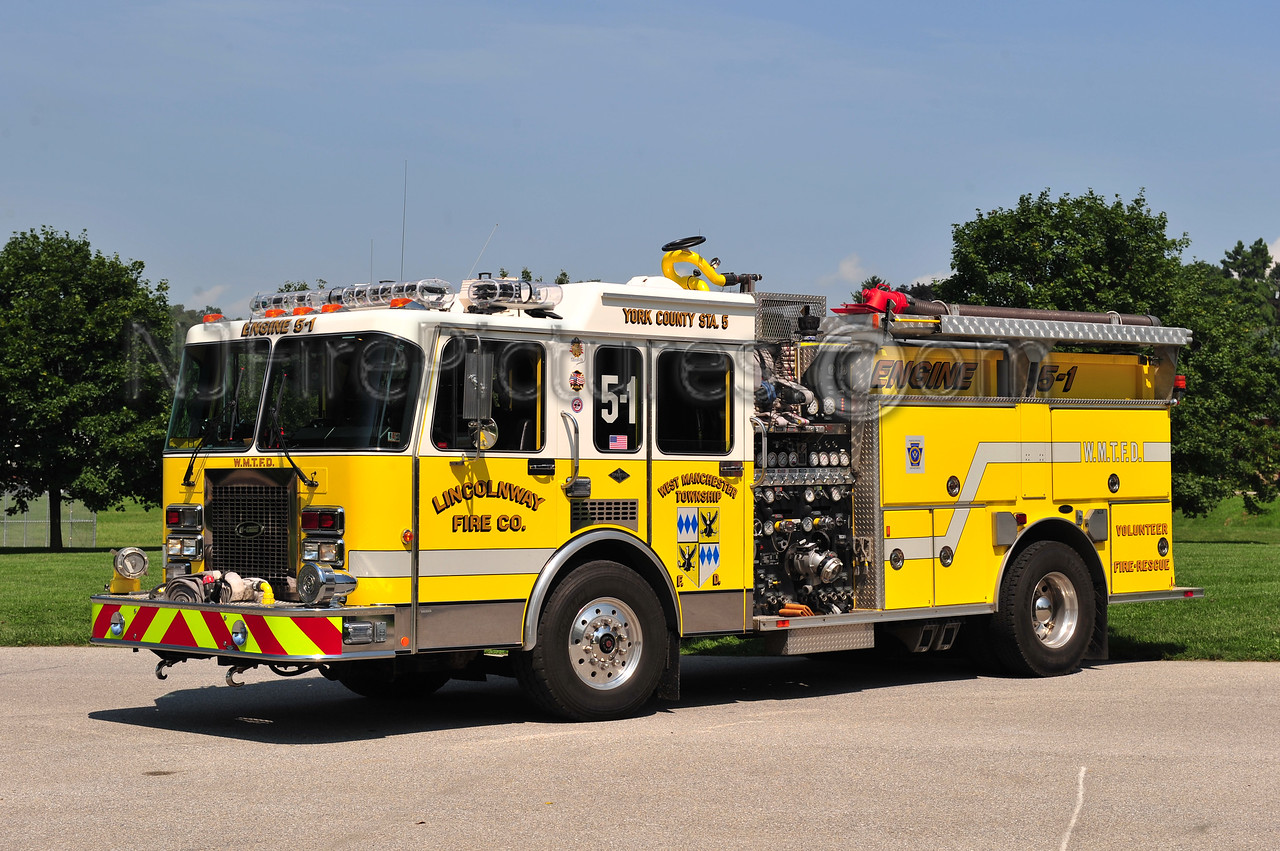 WEST MANCHESTER TWP (LINCOLNWAY) ENGINE 5-1 - 1992 SPARTAN/E-ONE 1500/600
