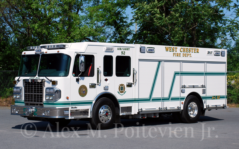 West Chester Fire Department<br /> Air-Light 52<br /> 2012 Spartan MetroStar/CustomFIRE<br /> Photo by: Alex M. Poitevien Jr.