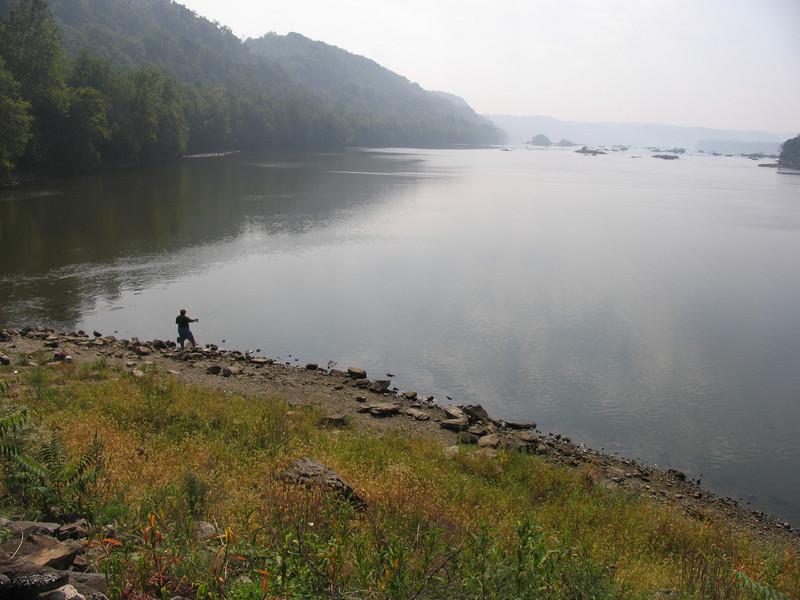 Dinu fishing near Conowingo Dam - September 2005