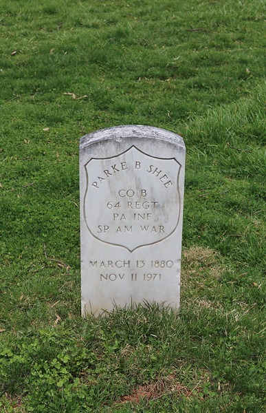 Parke B. Shee Headstone