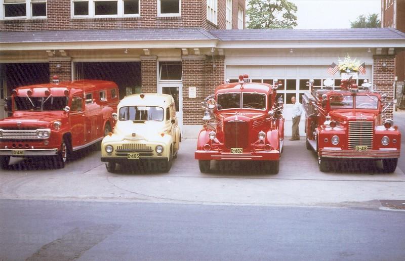 Hershey Fire Dept. apparatus circa 1961
