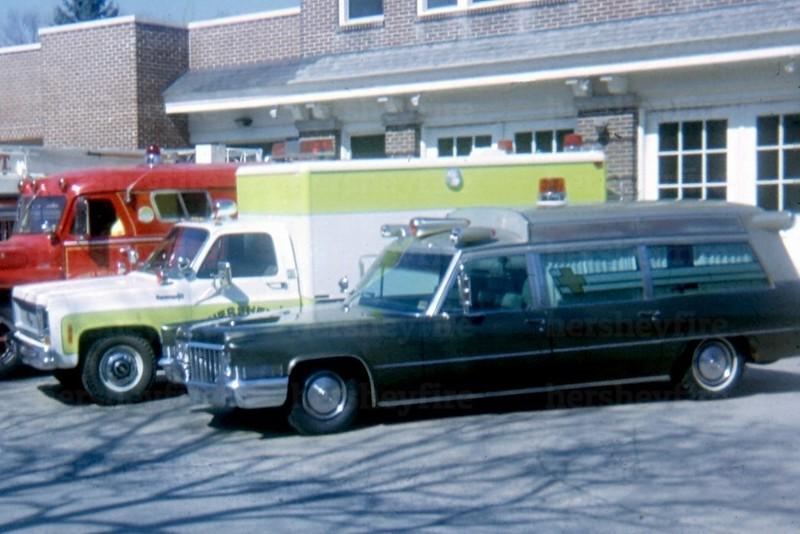 Hershey 1970 Cadillac and 1973 Chevrolet/Horton ambulance