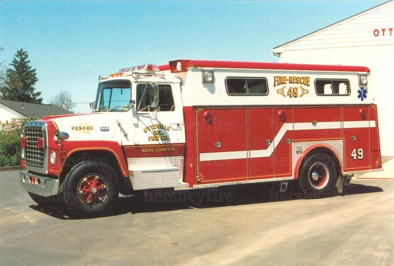 1976 Ford/Swab rescue shown in-service with Ottsville, PA circa 1992