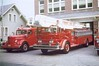 Hershey Fire Dept. apparatus circa 1965;<br /> house on left later torn down to make way for 1970 fire house addition