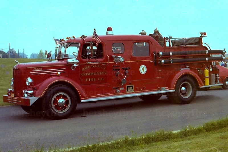 Hershey's 1947 Mack seen in-service with Prescott, PA in the 1970s