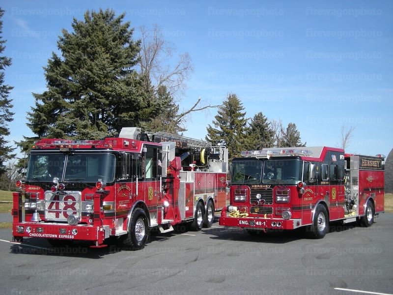 Hershey Truck 48 & Engine 48-1<br /> 2 March 2008