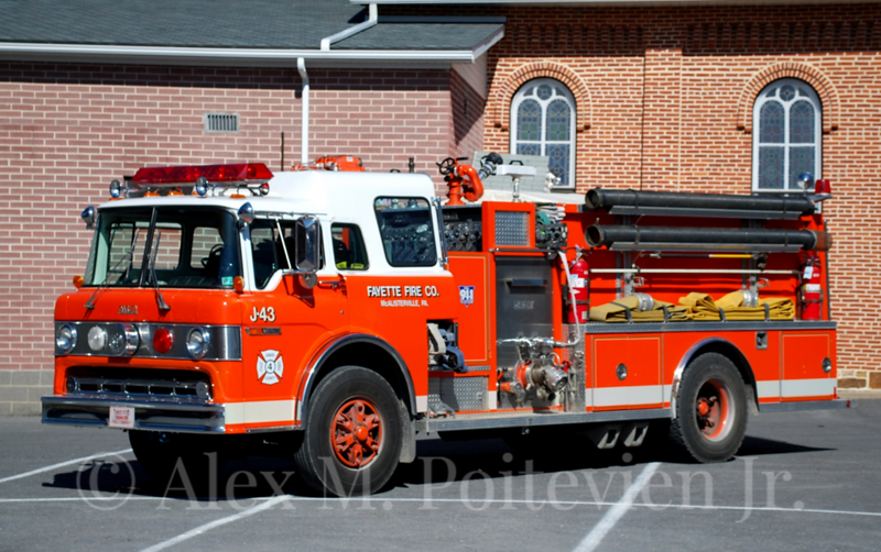 Fayette Fire Company<br /> McAllisterville, PA<br /> Tanker 42-1<br /> 1990 Ford/Darley 1500/1250<br /> Photo by: Alex M. Poitevien Jr.