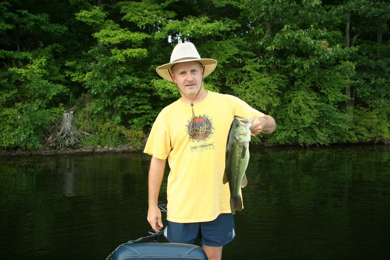 4 lb. Largemouth Bass, Lake Nockamixon - August 2007