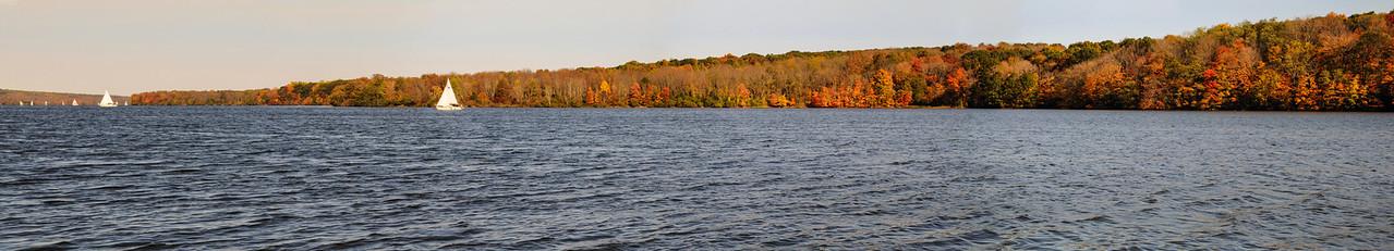 Lake Nockamixon Panoramic - October 2008