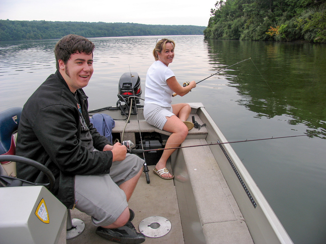 Gina and Jason Martinez at Lake Nockamixon - August 2005