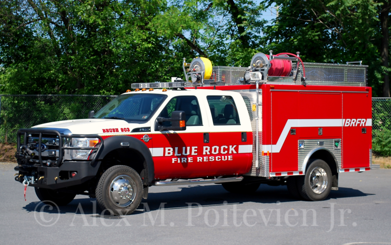 Blue Rock Fire Rescue<br /> Brush 903<br /> 2012 Ford/Custom Body Works 250/300/30F<br /> Photo by: Alex M. Poitevien Jr.