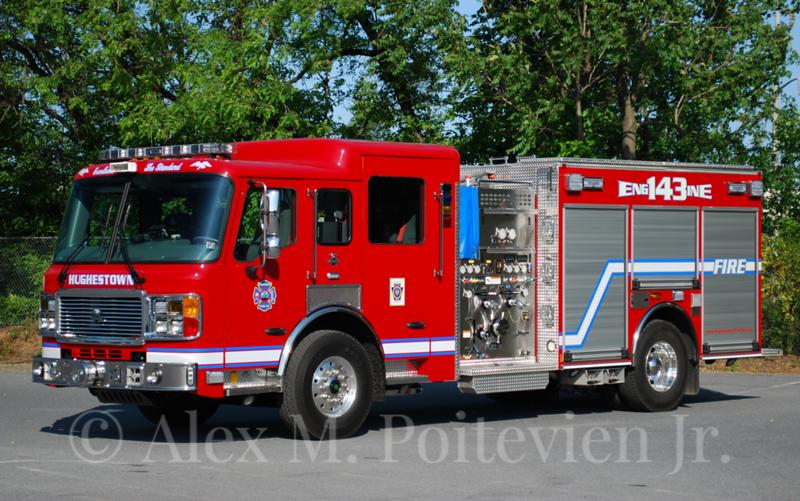 Hughestown Hose Company<br /> Engine 143<br /> 2012 American LaFrance Eagle 1250/750<br /> Photo by: Alex M. Poitevien Jr.