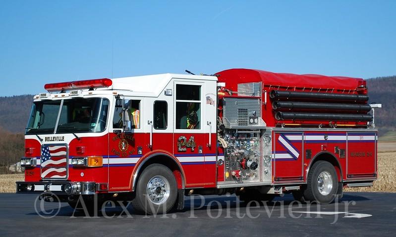 Belleville Fire Company<br /> Engine-24<br /> 2004 Pierce Enforcer 1250/1000<br /> Photo by: Alex M. Poitevien Jr.