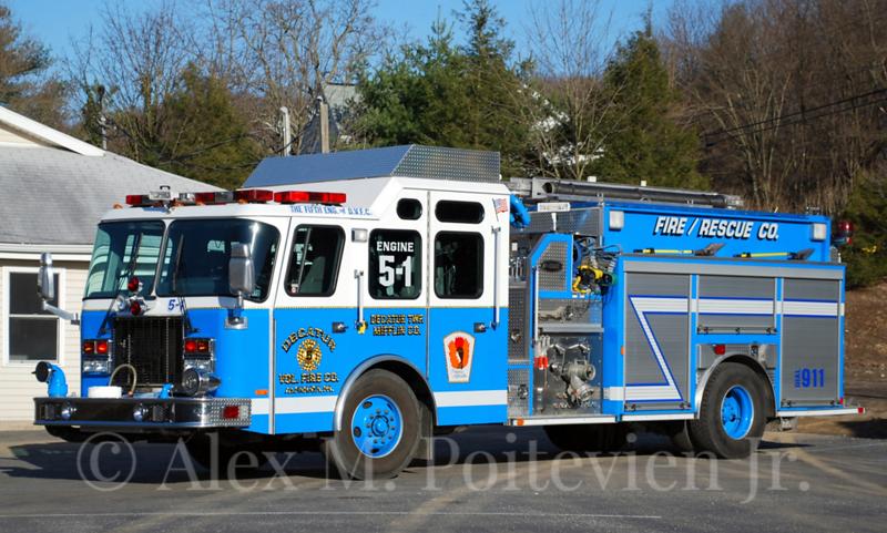 Decatur Vol. Fire Company<br /> Alfarata, PA<br /> Engine 5-1<br /> 2001 E-One Cyclone II 1500/1000<br /> Photo by: Alex M. Poitevien Jr.