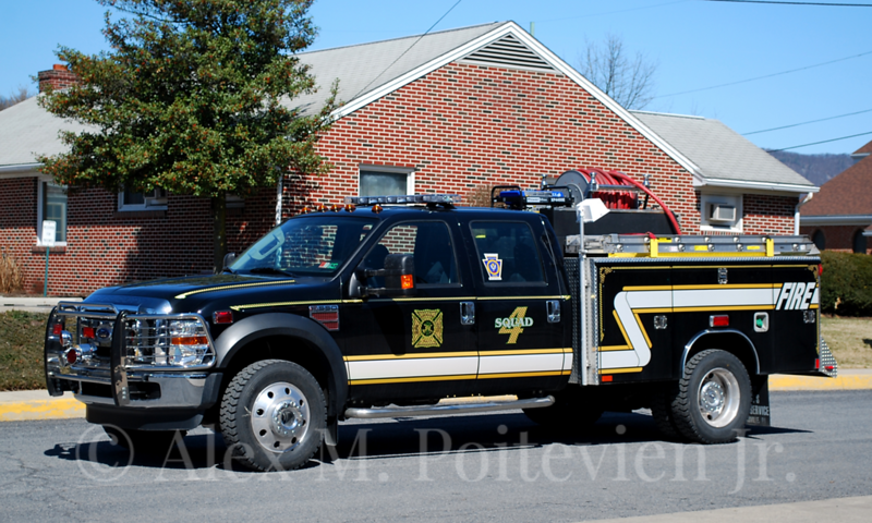Highland Park Hose Company<br /> Squad 4-1<br /> 2008 Ford/Reading PP/300<br /> Photo by: Alex M. Poitevien Jr.