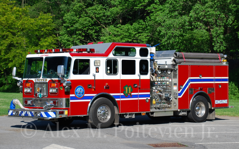 United Fire Company<br /> Engine 11-1<br /> 1994 Seagrave 1500/710/40F<br /> X-Independent Hose Co. - Frederick, MD E12<br /> Photo by: Alex M. Poitevien Jr.