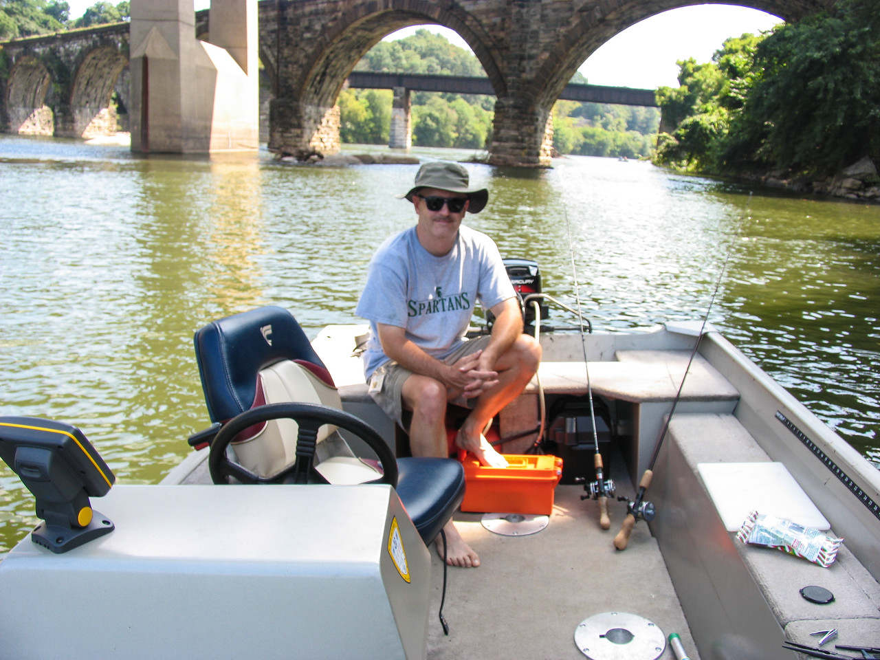 Fishing on the Schuylkill River - August 2004