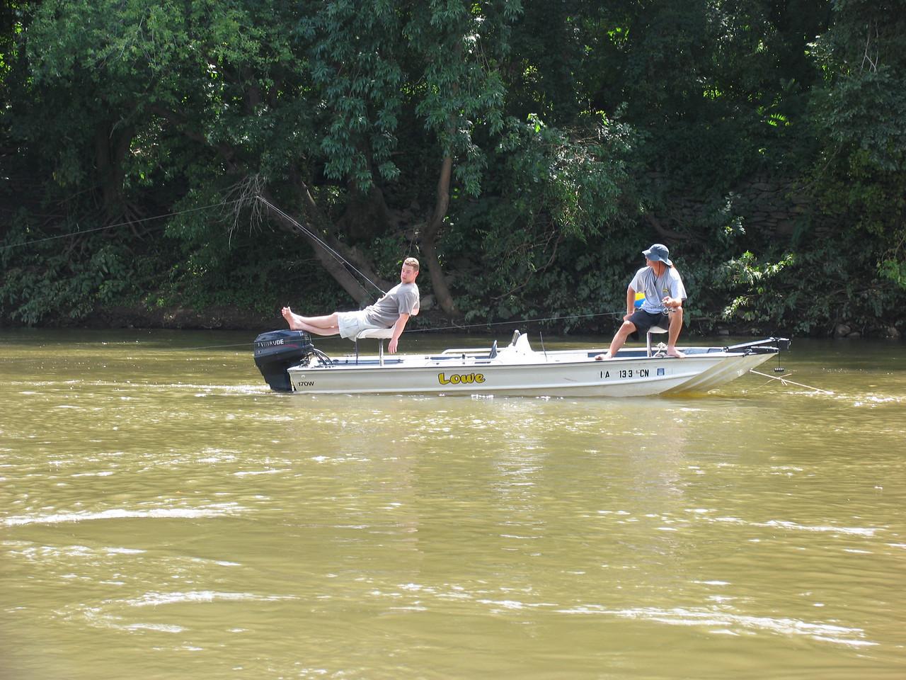 Ian Fyfe & friend on Schuylkill River - July 2004