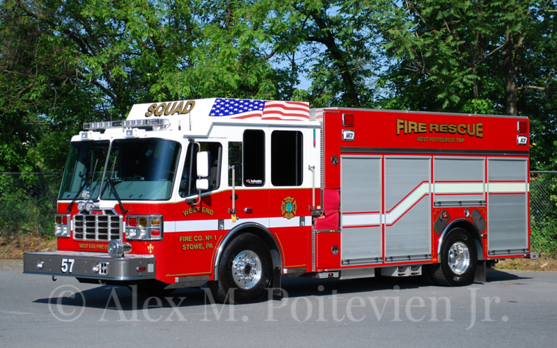 West End Fire Company<br /> Squad-57<br /> 2012 Ferrara Igniter 1500/750<br /> Photo by: Alex M. Poitevien Jr.