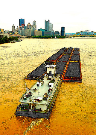 Coal Barge from W End Bridge- (Item-5510)
