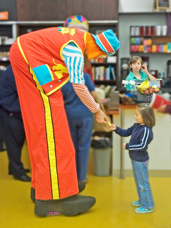 Clown at Carnegie Library- (Item-0195)