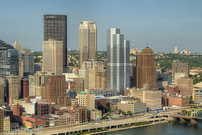 Downtown Pittsburgh, PA on Friday, August 14, 2015. Copyright 2015 Jason Barnette