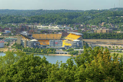 View of Heinz Field, home of the Pittsburgh Steelers, in Pittsburgh, PA on Friday, August 14, 2015. Copyright 2015 Jason Barnette