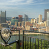 View of downtown Pittsburgh, PA on Friday, August 14, 2015. Copyright 2015 Jason Barnette