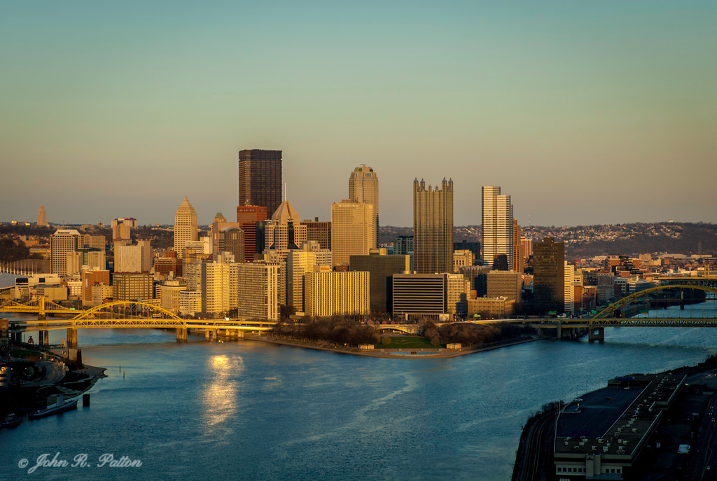 Pittsburgh skyline from West End Park.