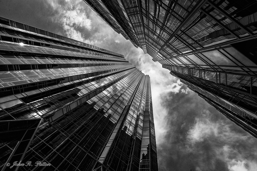PPG Place in black & white