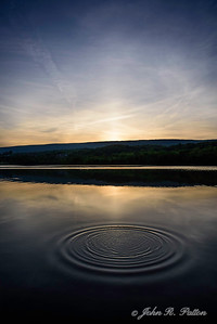 Circles at sunset