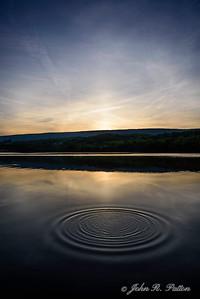 Circles at sunset