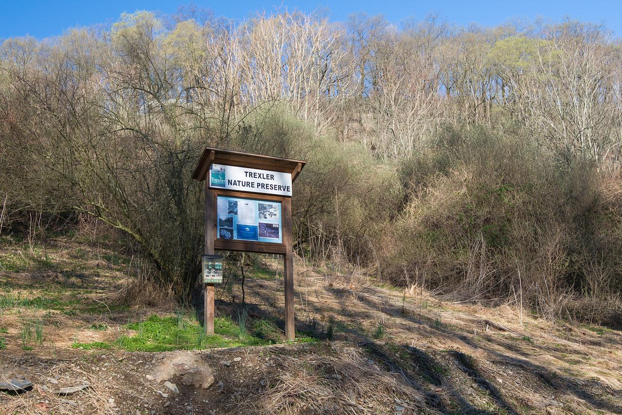 Trail Head in Northern Range of Trexler Nature Preserve - April 2013